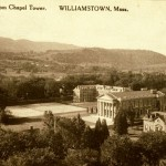 Northwest Hill and the Taconic Range in photograph from the Willliams College Chapel ca. 1924