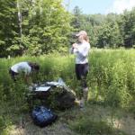 Two researchers in Field